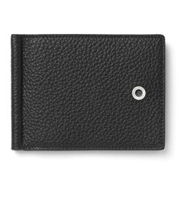 Graf-von-Faber-Castell - Credit card case with money clip Cashmere, black