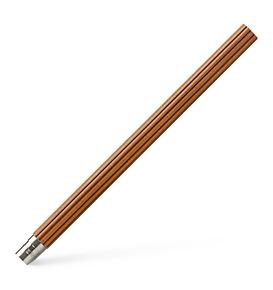 Graf-von-Faber-Castell - 5 spare pencilcs Perfect Pencil, platinum-plated, Brown