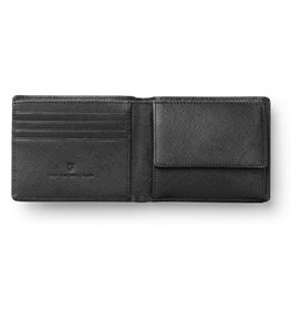 Graf-von-Faber-Castell - Wallet with flap, black Saffiano